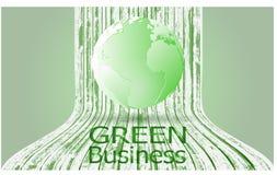 Grren-Geschäfts-Hintergrund-Vektor +Save das Erdkonzept Stockfotografie