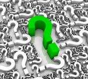 Grren Question Mark Stock Photos