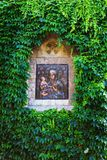 Grren wall and icon of Church of the Holy Mother of God Crkva Ruzica in Belgrade Fortress or Beogradska Tvrdjava Royalty Free Stock Photography