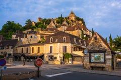 Górskiej chaty De Beynac kasztelu Dordogne perigord, Francja Obraz Royalty Free