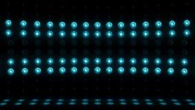 gräsplan för ÖGLA för vertikal scanning 4K för etapp för ljus kula 3d stock video