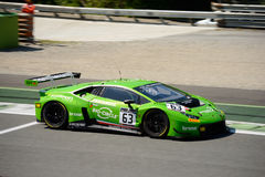 GRT Grasser Racing Lamborghini Huracan GT3 at Monza. The Autodromo Nazionale Monza hosted the first endurance race of 2017 Blancpain GT Series Royalty Free Stock Images
