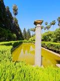 Gärten im Alcazar von Sevilla, Spanien Stockbild