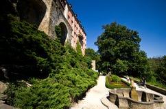Gärten von Ksiaz-Schloss Polen Stockfotografie