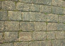 Grått slut för stenvägg upp Arkivbild