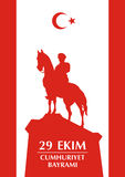 Gruß Cumhuriyet Turkiye Stockbild