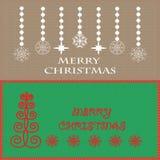 Gruß der frohen Weihnachten Stockbild