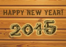 Gruß des glücklichen neuen Jahres Lizenzfreie Stockfotos