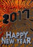 Gruß des neuen Jahres 2017 mit isometrischer Kunstart Lizenzfreies Stockbild