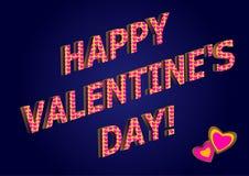 Gruß für Valentinstag Lizenzfreies Stockbild
