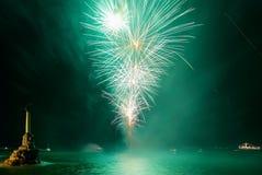 Gruß, Feuerwerke Stockfotos
