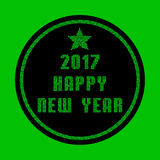 Gruß-Karte gemacht von den grünen Mosaikpartikeln - guten Rutsch ins Neue Jahr 2017 Lizenzfreie Stockbilder