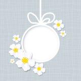 Gruß-Karte mit Blumen Stockbild
