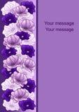 Gruß-Karte mit Blumen Lizenzfreies Stockbild