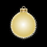 Gruß-Karte mit Weihnachtsbällen von den Sternen Stockfoto