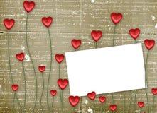 Gruß-Karte zum Str.-Valentinstag Lizenzfreie Stockbilder