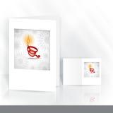 Gruß-Karten-Design, Schablone Stockfoto