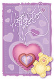 Gruß-Karten-Valentinstag Stockfotografie