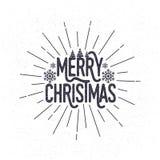 Gruß-Kartenauslegung der frohen Weihnachten stock abbildung
