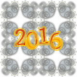 Gruß-Kartendesign des guten Rutsch ins Neue Jahr 2016 kreatives Stockbilder