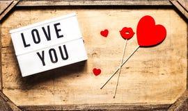 Gruß St. Valentine's Tages Stockfotos