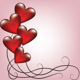 Gruß-Valentinsgrußkarte mit Ballonen Stockfotos