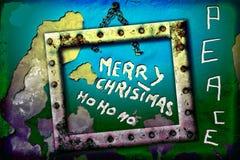 Gruß von frohe Weihnachten ho ho ho Stockfotos