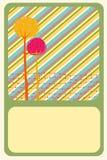Grußkarte Stockbild