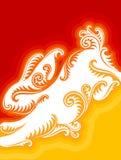 Grußkarte 2011 des neuen Jahres mit Kaninchen Lizenzfreie Stockbilder