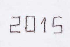 Grußkarte 2015 Stockbilder