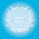 Grußkarte am 16. April, lokalisierte Kalligraphiebeschriftung, fröhliche Ostern, Wortdesignschablone Lizenzfreies Stockfoto