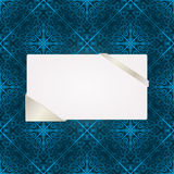 Grußkarte auf nahtlosem Muster Lizenzfreie Stockbilder