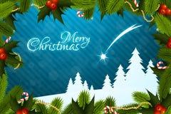 Grußkarte der frohen Weihnachten Lizenzfreies Stockfoto