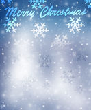 Grußkarte der frohen Weihnachten Stockbild