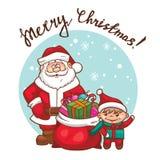 Grußkarte der frohen Weihnachten Stockfoto