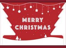 Grußkarte der frohen Weihnachten Lizenzfreies Stockbild