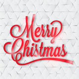Grußkarte der frohen Weihnachten auf dem Papier Lizenzfreies Stockbild