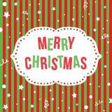Grußkarte der frohen Weihnachten Festlicher Hintergrund des Vektors Stockbild