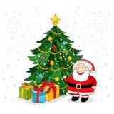 Grußkarte der frohen Weihnachten mit Santa Claus stock abbildung