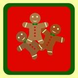 Grußkarte der frohen Weihnachten Neues Jahr Happe Feiertagsfeier Editable Vektorillustrationsschablone Lizenzfreie Stockbilder