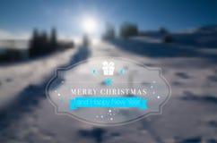 Grußkarte der frohen Weihnachten und des glücklichen neuen Jahres Lizenzfreies Stockbild