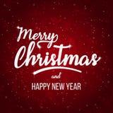 Grußkarte der frohen Weihnachten und des guten Rutsch ins Neue Jahr, Stockbild
