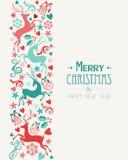 Grußkarte der frohen Weihnachten und des guten Rutsch ins Neue Jahr Lizenzfreies Stockbild