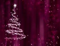 Grußkarte der frohen Weihnachten und des guten Rutsch ins Neue Jahr mit Kopieraum stock abbildung