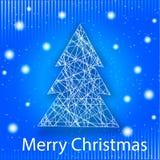 Grußkarte der vektorfrohen Weihnachten Stockfotografie