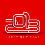 Grußkarte des glücklichen neuen Jahres 2013. Stockfotografie