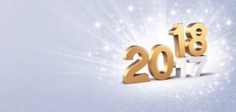 Grußkarte des neuen Jahres 2018 stock abbildung