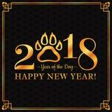 Grußkarte 2018 des neuen Jahres stock abbildung