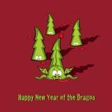 Grußkarte des neuen Jahres Lizenzfreies Stockfoto