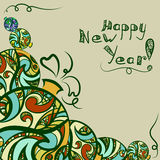 Grußkarte des neuen Jahres vektor abbildung